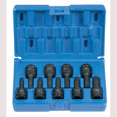 "Grey Pneumatic 1200T 3/8"" Drive 9 Piece Internal Star Impact Driver Set"