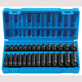 "Grey Pneumatic 9728M 1/4"" Dr. 28 pc. Std. & Deep Length Metric Master Set"