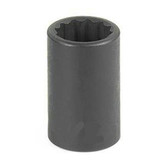 "Grey Pneumatic 1114R 3/8"" Drive x 7/16"" 12 Point Standard Socket"