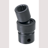 "Grey Pneumatic 1112UM 3/8"" Drive x 12mm Standard Universal- 12 Point Socket"