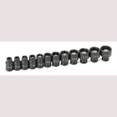 "Grey Pneumatic 9712MG 1/4"" Drive 12 Pc. Metric Magnetic Impact Socket Set"