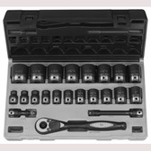 "Grey Pneumatic 82622 1/2"" Dr. 22pc Fractional Duo-Socket Set - 6 Pt."