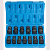 "Grey Pneumatic 1713UM 1/2"" Dr. 13 Pc. Standard Metric Univ. Set  - 12 Point"
