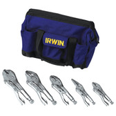 Irwin 2077704 5pc Vise Grip Set w/Free Irwin Bag