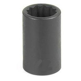 "Grey Pneumatic 1112M 3/8"" Drive x 12mm 12 Point Standard Socket"