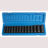 "Grey Pneumatic 1412MD 1/2"" Drive 14 Piece Deep Metric Set"