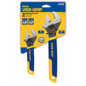 "Irwin 2078700 Adjustable Wrench Set 6"" and 10"" - 2 Piece"