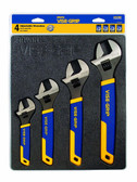 Irwin Vise Grip 2078706 4pc Adjustable Wrench Tray Set, 4 Piece