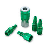 "Legacy A71456B B 5Pc 1/4"" Green Air Coupler & Plug"