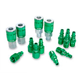 "Legacy A71458B B 14Pc 1/4"" Green Coupler & Plug"