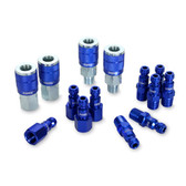 "Legacy A72458C C 14Pc 1/4"" Blue Coupler & Plug"