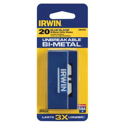 Irwin 2084200 Bi-Metal Utility Blades - Blue Blade, 20 Pack