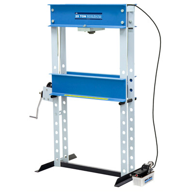 OTC 1834 25-Ton Capacity Shop Press with Air Driven Hydraulic Pump