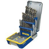 "Irwin 3018006B TruboMax 29pc Metal Index Drill Bit Set, Reduced 3/8"" Shank"