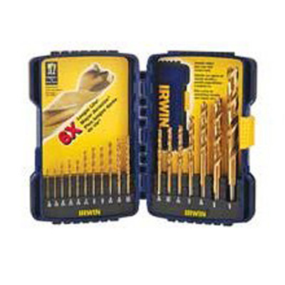 Irwin 3018010 Titanium TurboMax Drill Bit Set w/Storage case, 18 Piece