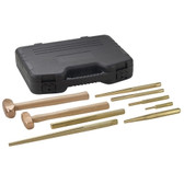 OTC 4629 Master Brass Hammer and Punch Set, 9 Piece