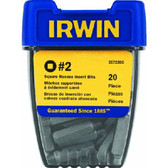 Irwin 357220 Insert Bit 20pc Container-#2 Square
