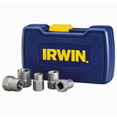 "Irwin 394001 Bolt Extractor Set, 5 Piece, 3/8"" to 5/8"""