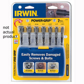 "Irwin 394103A Bolt Extractor, 3/8"", Reverse Spiral Teeth"