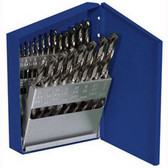 "Irwin 63221 Drill Bit Set, 21 Piece, Cobalt, 1/16"" to 3/8"", by 64ths, in Metal Index"