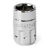 "Gearwrench 132140GR 1/4"" Drive 20mm Pass Thru Ratcheting Socket"