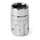 "Gearwrench 132140GR 1/4"" Drive 20mm Pass Thru Ratcheting Socket"