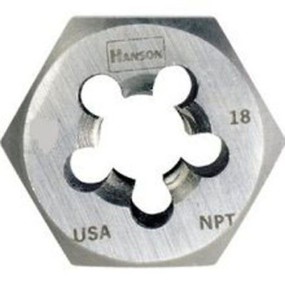"Irwin 7004 Hex Pipe Die - High Carbon Steel 3/8"" - 18 NPT, Bulk"