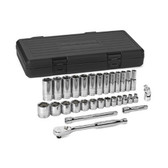 """Gearwrench 80569 Socket Set 30 piece 3/8"""" Drive 6 Point SAE"""