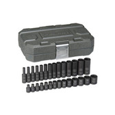 "Gearwrench 84901 Impact Socket Set 28 piece 1/4"" Drive mm"