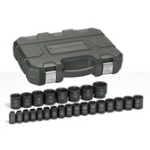 "Gearwrench 84933 Impact Socket Set 25 piece 1/2"" Drive mm"