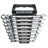 Gearwrench 85798 8 piece XL Locking Flex Head Double Box Ratcheting Socketing Wrench