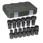 "Gearwrench 84938 Universal Impact Socket Set 13 piece 1/2""drive SAE"