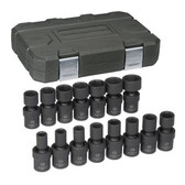 "Gearwrench 84939 Universal Impact Socket Set 15 piece 1/2""drive mm"