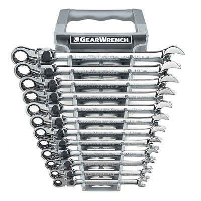 Gearwrench 85698 12 piece XL Locking Flex Head Double Box Ratcheting Socketing Wrench