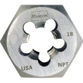 "Irwin 7404 Hex Pipe Die, Rethreading, 3/8"" - 18 NPT"