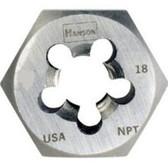 """Irwin 7404 Hex Pipe Die, Rethreading, 3/8"""" - 18 NPT"""