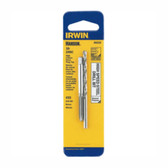 Irwin 80220 Tap and Drill Bit Set, 10-24 NC High Carbon Steel Plug Tap, # 25 High Speed Steel Drill Bit, Carded