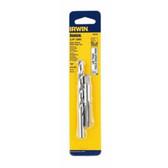 Irwin 80230 Tap and Drill Bit Set, 1/4-20 NC High Carbon Steel Plug Tap, 13/64 High Speed Steel Drill Bit, Card