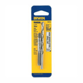 Irwin 80232 Tap and Drill Bit Set, 1/4-28 NF High Carbon Steel Plug Tap, # 3 High Speed Steel Drill Bit, Carded