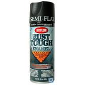 Duplicolor RTA9203 Krylon Rust Tough Enamel Paint, Semi Flat Black, 12 Oz Can, One Coat Coverage, Low Odor