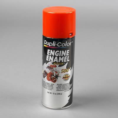 Duplicolor DE1620 Engine Enamel Paint, Chevrolet Orange, 12 Oz Can