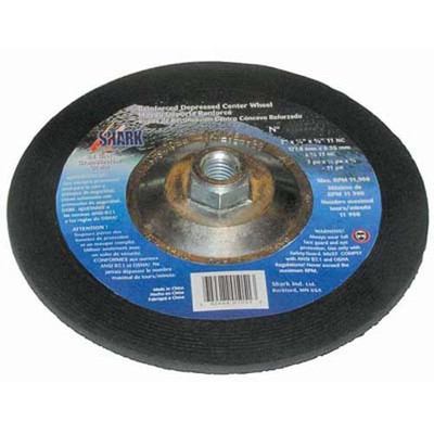 "Shark 12750 4 1/2"" X  1/4"" X  5/8-11"" Depressed Center Wheel"