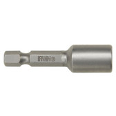 "Irwin 94204 Magnetic Nutsetter, 8mm Hex, 1/4"" Hex Shank with Groove, 1-7/8"" Long, Bulk"