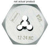 "Irwin 9423 Hex Die, High Carbon Steel, 1"" Across the Flat, 1/4"" - 28 NF, Carded"