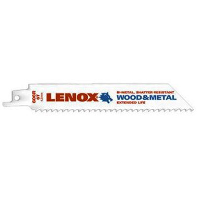 "Lenox 20559-S606R Multi Purpose Reciprocating Saw Blade 6"" x 6 TPI - 5 Pack"