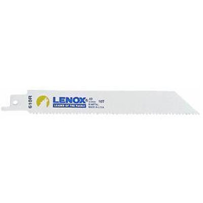 "Lenox 20561-S610R Bi-Metal Reciprocating Saw Blade 6"" x 10 TPI  - 5 Pack"