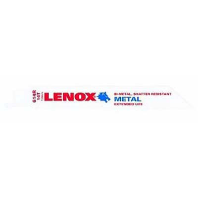 "Lenox 20564-614R Metal Cutting Reciprocating Saw Blade 6"" x 14 TPI - 5 Pack"