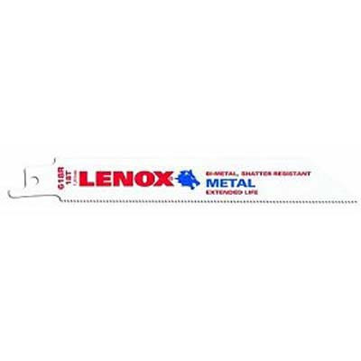"Lenox 20566-618R Metal Cutting Reciprocating Saw Blade 6"" x 18 TPI - 5 Pack"