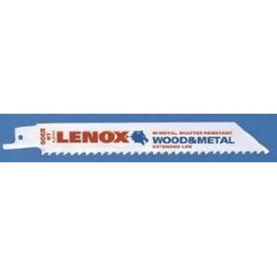 "Lenox 20569 Metal Cutting Reciprocating Saw Blade 6"" x 24 TPI"