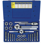 Irwin 97311 Tap and Die Set, 25 Piece, Hex Dies, 14mm to 24mm with Handles in Plastic Case